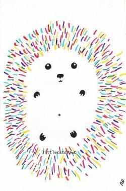 Drawn hedgehog easy