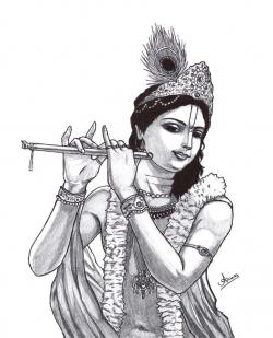 Drawn fluted  sri krishna