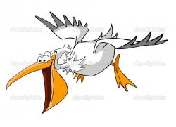 Pelican clipart flying