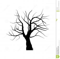 Dead Tree clipart leave silhouette