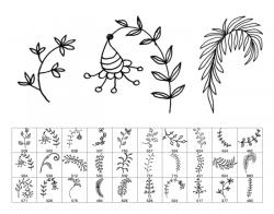Drawn foliage hand drawn