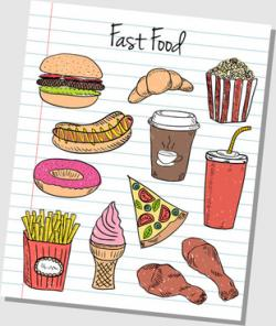 Drawn food