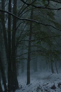 Drawn snowfall creepy