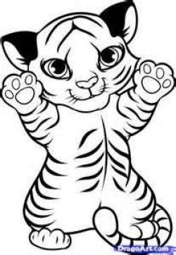 Drawn tigres baby tiger