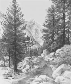 Drawn snowfall graphite
