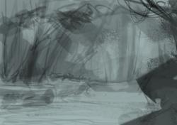 Drawn jungle deep