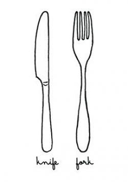 Drawn fork knife