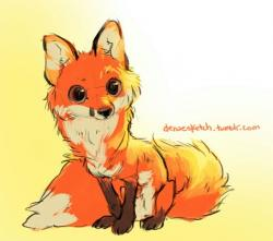 Drawn pice fox