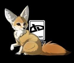 Fennec Fox clipart cute