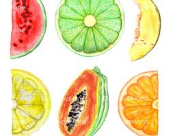 Drawn fruit