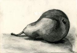 Drawn pencil pear