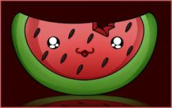 Drawn watermelon chibi
