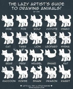 Drawn furry weird animal