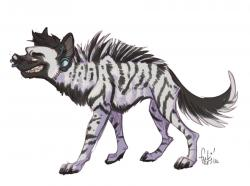 Drawn hyena furry