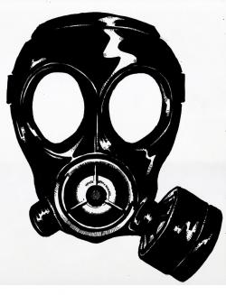 Gas Mask clipart silhouette