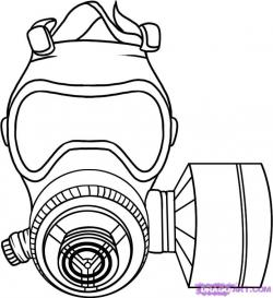 Gas Mask clipart drawn