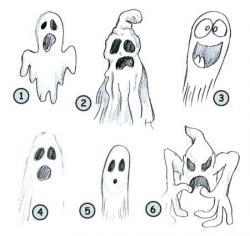 Drawn ghostly emo