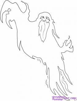 Drawn ghostly
