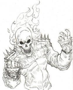 Drawn ghostly pencil drawing