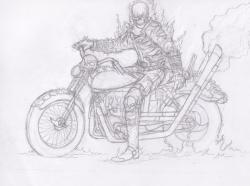 Drawn ghostly pencil sketch