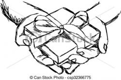 Drawn gift black and white