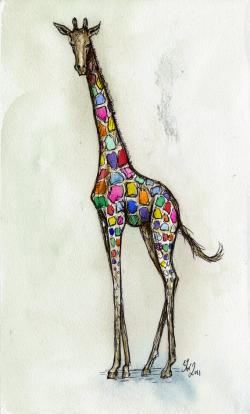 Drawn giraffe