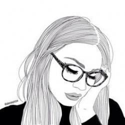 Drawn girl aesthetic
