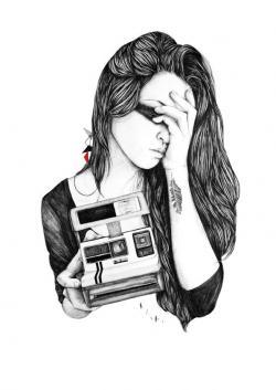 Drawn photos polaroid