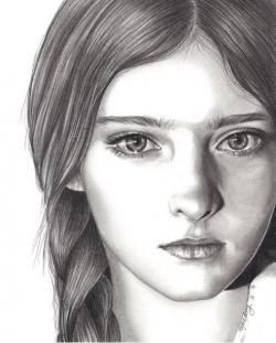 Drawn portrait simple