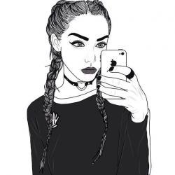 Drawn selfie instagram