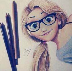 Drawn goggles pencil sketch