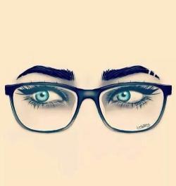 Drawn glasses nerd