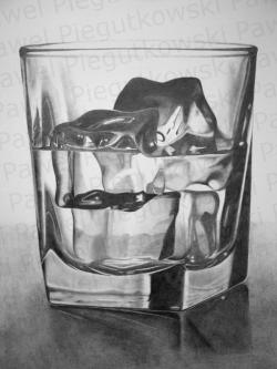 Drawn glasses black and white