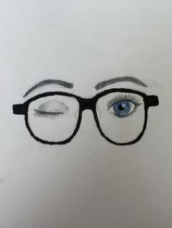 Drawn sunglasses eye