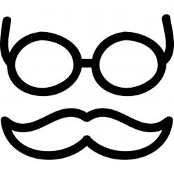 Drawn spectacles hand drawn