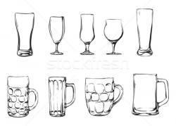 Drawn glasses hand drawn