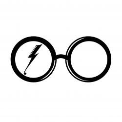 Drawn spectacles silhouette