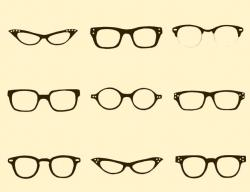 Drawn spectacles simple