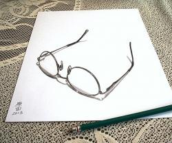 Drawn spectacles pencil shading