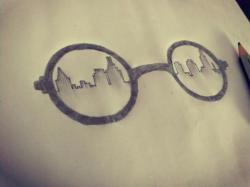 Drawn glasses simple