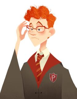 Drawn spectacles percy weasley