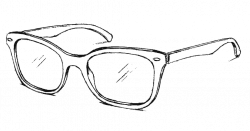 Drawn sunglasses ray ban