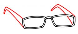 Drawn spectacles cartoon