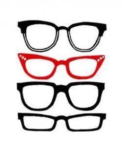 Drawn glasses retro