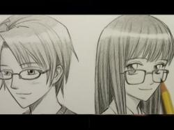 Drawn spectacles animated