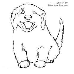 Drawn golden retriever coloring page