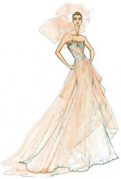 Drawn gown stylish