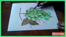 Drawn grapes colored