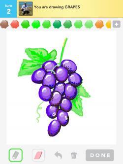 Drawn grape colored