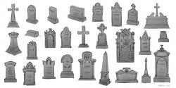Drawn headstone